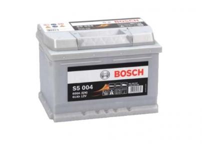 Аккумулятор Bosch S5 004 Silver Plus 61AH R+600A (Низкобазовый)
