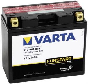 Varta YT12B-BS 12V 12AH AGM 512901019