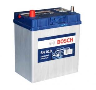 Аккумулятор Bosch S4 019 Silver 40Ah JL+ 330A (EN) (тонкая клемма)