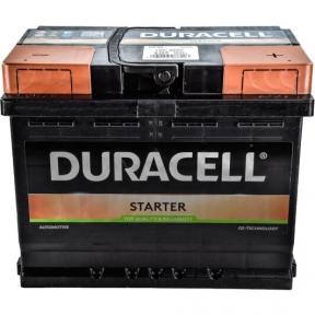 Аккумулятор автомобильный Duracell 6СТ- 62Ah R+ 510A