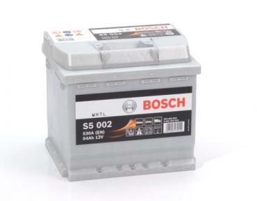 Аккумулятор Bosch S5 002 Silver Plus 54AH R+530A