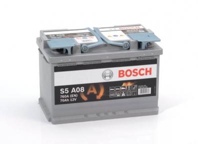 Аккумулятор Bosch S5 A08 AGM 70AH R+760A (Start-stop)